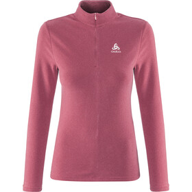 Odlo Roy 1/2 Zip Midlayer Women mesa rose-rumba red-stripes
